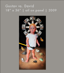 Gustav vs. David | Oil on Panel
