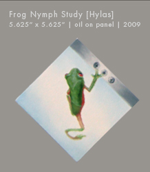 "Frog Nymph Study | Oil on Panel | 5.625"" x 5.625"""